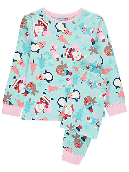 festive christmas pyjamas kids george - Childrens Christmas Pyjamas