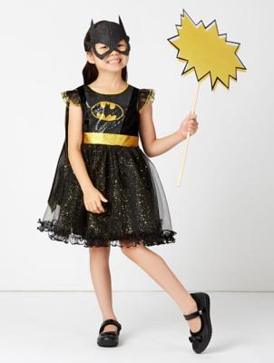 sc 1 st  George - Asda & Black DC Comics Batgirl Fancy Dress Costume | Kids | George