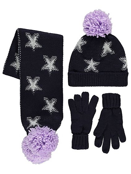 Asda Hat And Scarf Set Womens Iucn Water