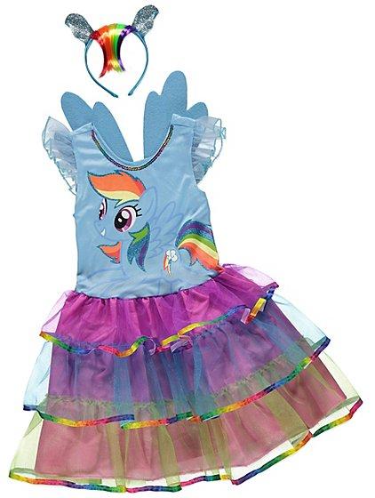 Blue My Little Pony Rainbow Dash Fancy Dress Costume | Kids | George