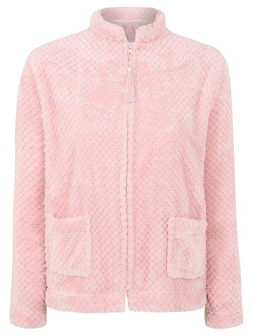 70c39a0139d Honeycomb Textured Fleece Bed Jacket. Reset