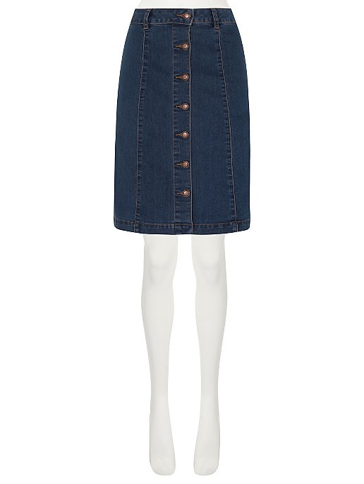 large discount cheapest sale check out Button-Up Denim A-Line Skirt