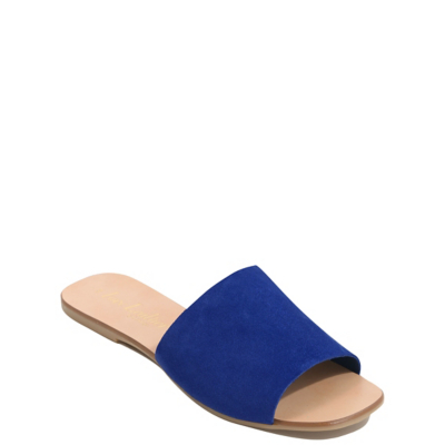 George Suede Mule Sandals - Blue, Blue.