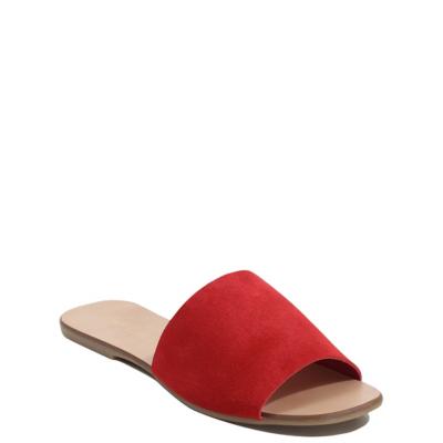 George Suede Mule Sandals - Red, Red.