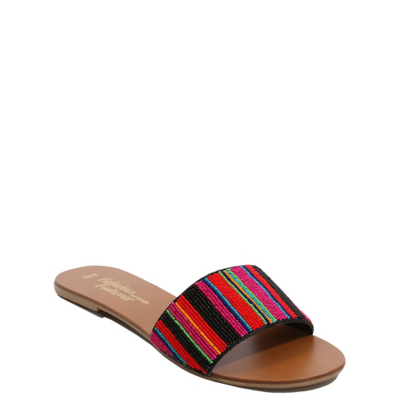 George Beaded Mule Sandals - Multi, Multi.