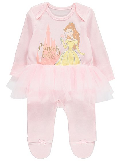 Disney princess belle tutu all in one baby george negle