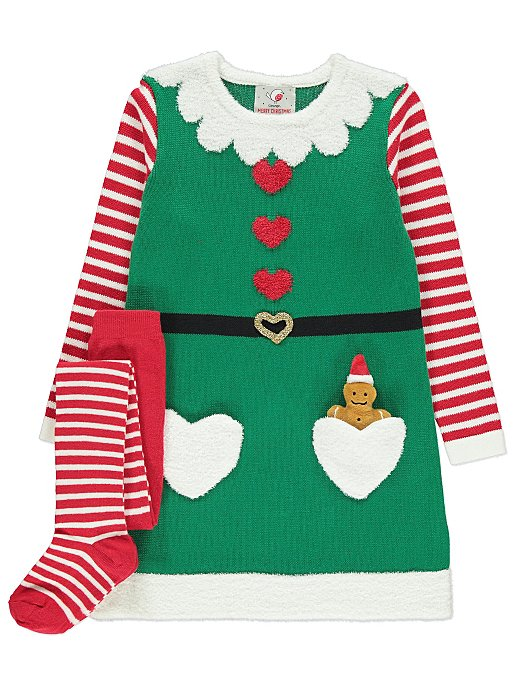 8ce0eb8582d9 Knitted Elf Dress