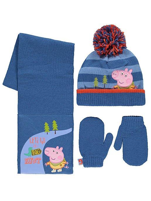68ba46fb4dd9c Peppa Pig George 3 Piece Hat