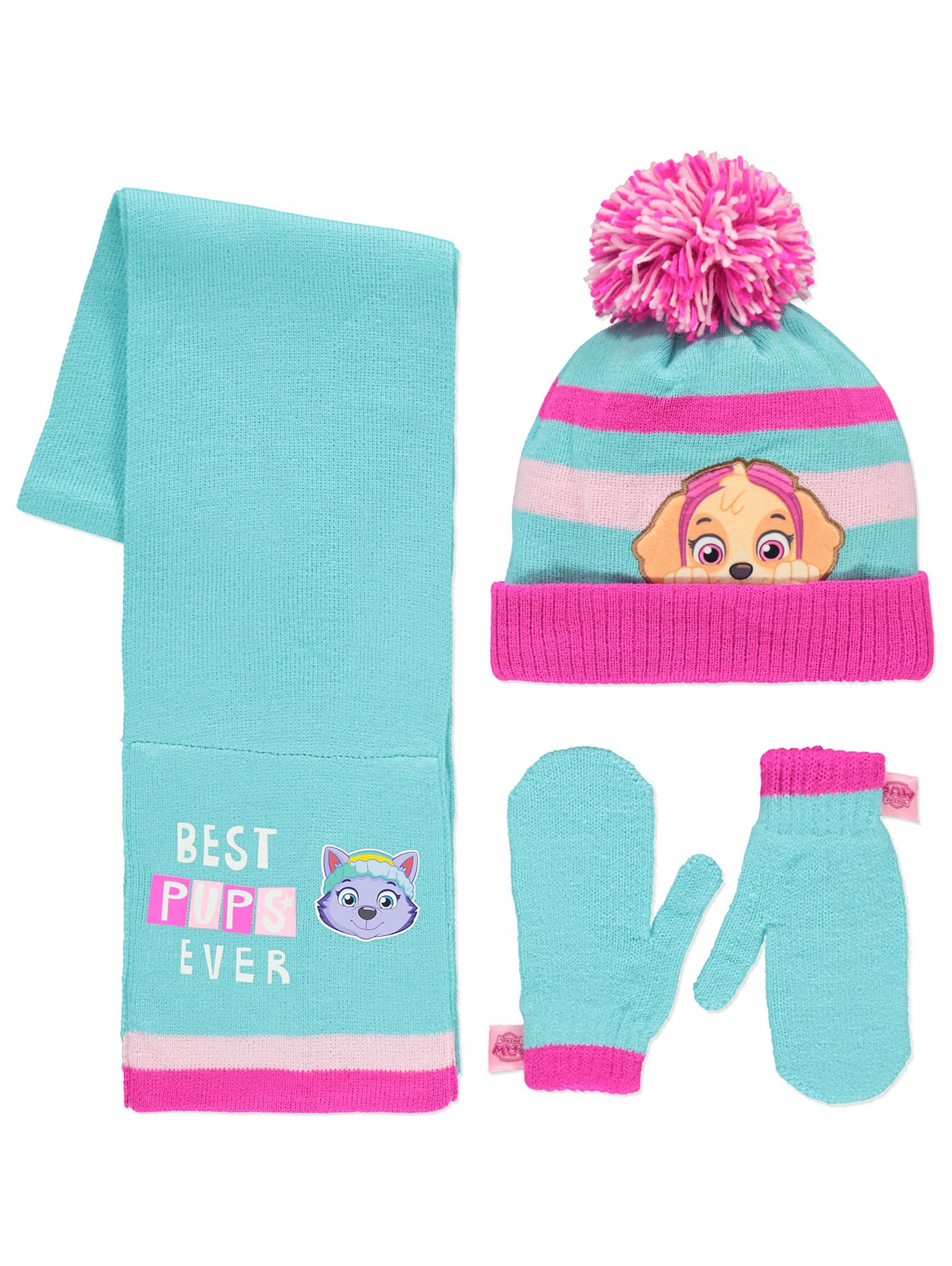 3979e945a PAW Patrol 3 Piece Hat, Scarf and Mittens Set