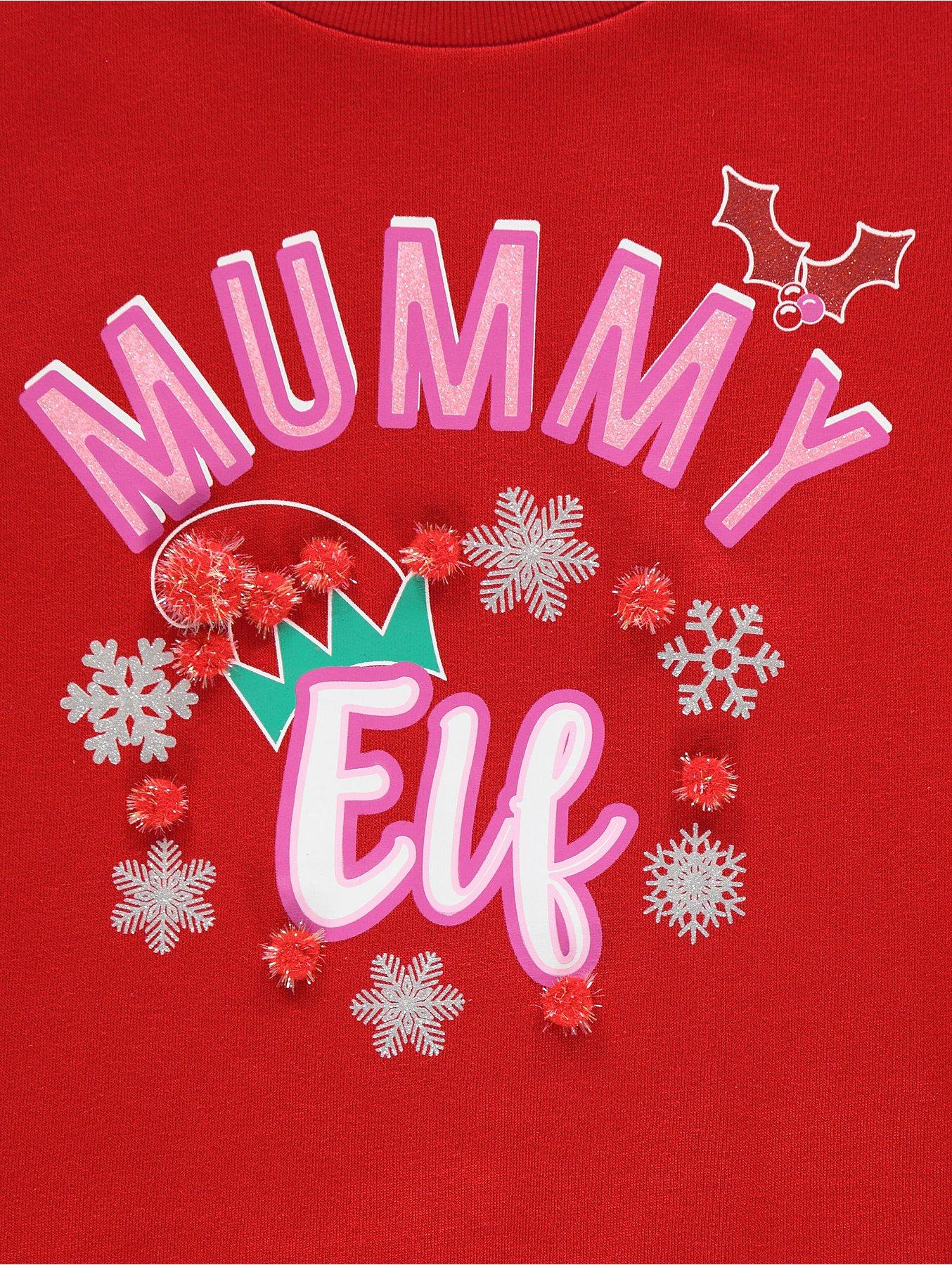 f82c02f035589 Mummy Elf Maternity Christmas Sweatshirt | Women | George