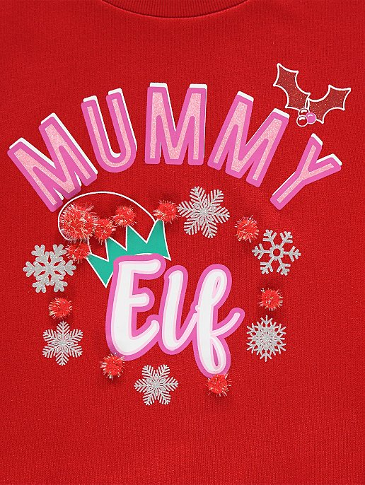 6905db59ea0d4 Mummy Elf Maternity Christmas Sweatshirt | Women | George