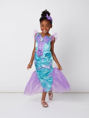 sc 1 st  George - Asda & Disney Princess Ariel Little Mermaid Fancy Dress Costume | Kids | George