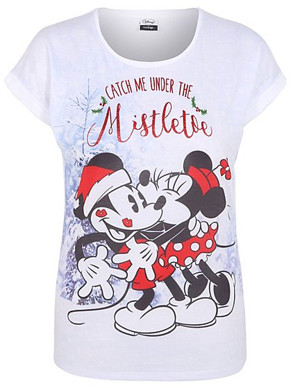 disney mickey and minnie mouse christmas t shirt women george