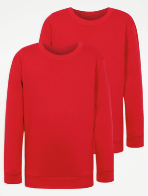 Red School Sweatshirt 2 Pack