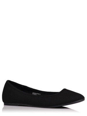 Black Canvas Ballet Shoes