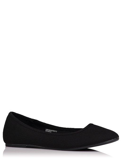 67ffd1cc5d7 Black Canvas Ballet Shoes