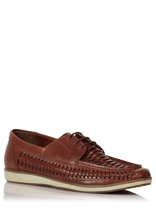 0e2cb5fe59f8d Red Tape Woven Leather Lace-Up Loafers. Reset