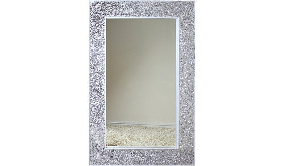 Mosaic Rectangular Mirror - Silver | Mirrors & Wall Art