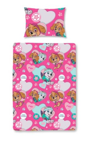 Paw Patrol Skye and Everest Toddler Bedding Range