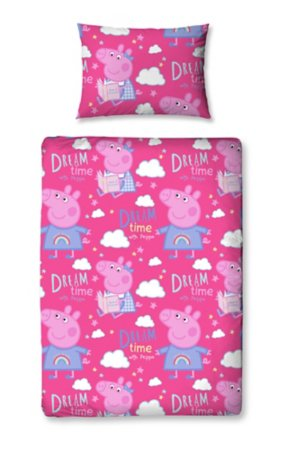 Peppa Pig Dreams Toddler Bedding Range