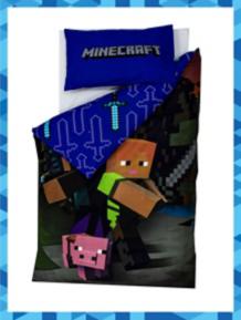 Minecraft Good Guys Reversible Duvet Set Single