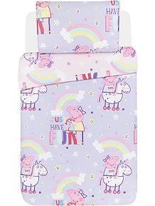 0af03ef87e1b3 Peppa Pig Unicorns Reversible Duvet Set - Toddler