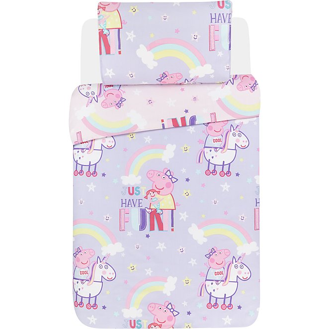 Peppa Pig Unicorns Reversible Duvet Set Toddler