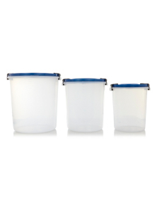 Kitchen Queen Plastic Food Storer Bins Pack of 3 Kitchen Food