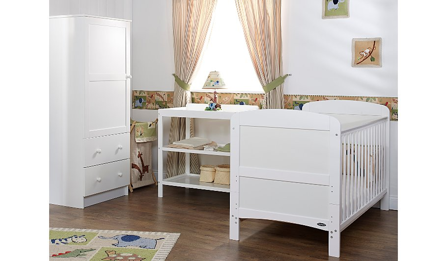 Obaby Grace 3 Piece Nursery Furniture Set White George At Asda