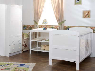 obaby grace 3 piece nursery furniture set white