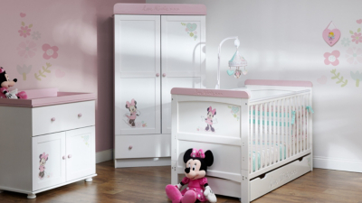Nice Obaby Minnie Mouse 3 Piece Nursery Furniture Room Set   White