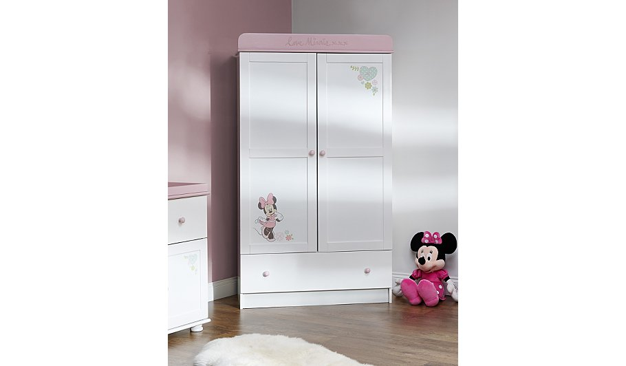 Obaby Minnie Mouse 3 Piece Nursery Furniture Room Set White