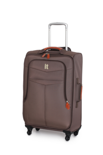 it Luggage 4-Wheel Lightweight Spinner Trolley Case Brown - Large ...