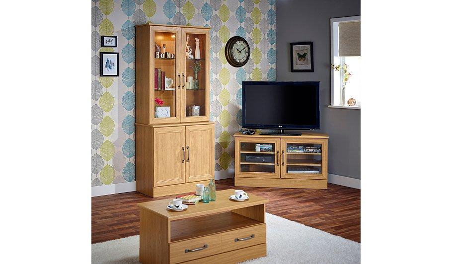 Addison Bookcase Oak Effect
