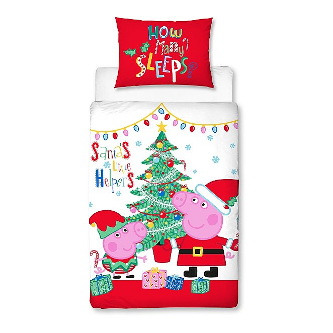online store 3ae07 f551f Peppa Pig Reversible Xmas Duvet Set - Toddler