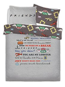 Warner Brothers Friends Reversible Duvet Set