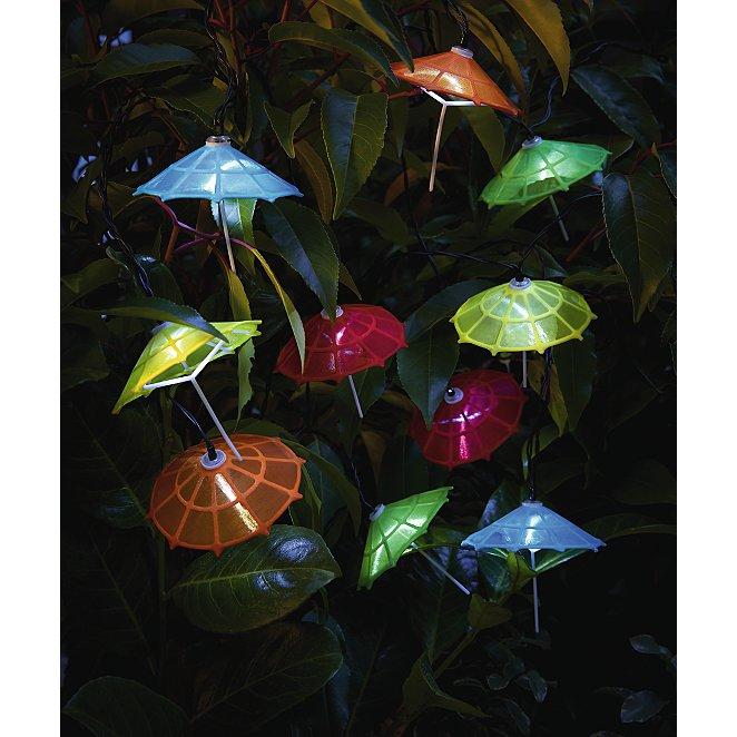 Umbrella Solar Powered Led String Lights 10 Pack Home Garden
