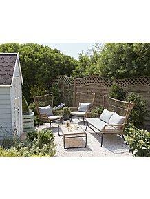 Cuba Loungeset Light Grey.Garden Furniture Outdoor Garden George At Asda