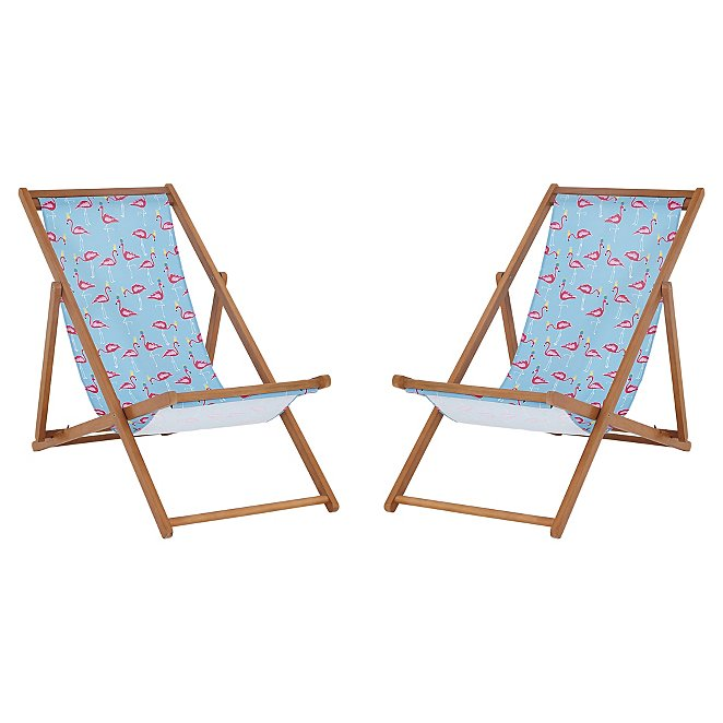 Flamingo Deck Chairs 2 Pack