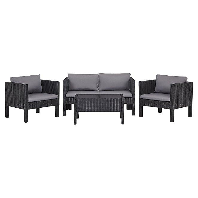 Pleasant Orlando 4 Piece Garden Sofa Set Inzonedesignstudio Interior Chair Design Inzonedesignstudiocom