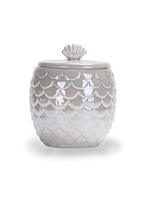 White Mermaid Canister