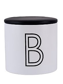 Black And White B Biscuit Tin