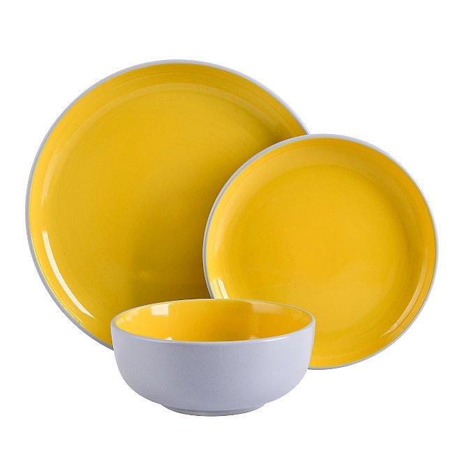 Yellow Two Tone 12 Piece Dinner Set