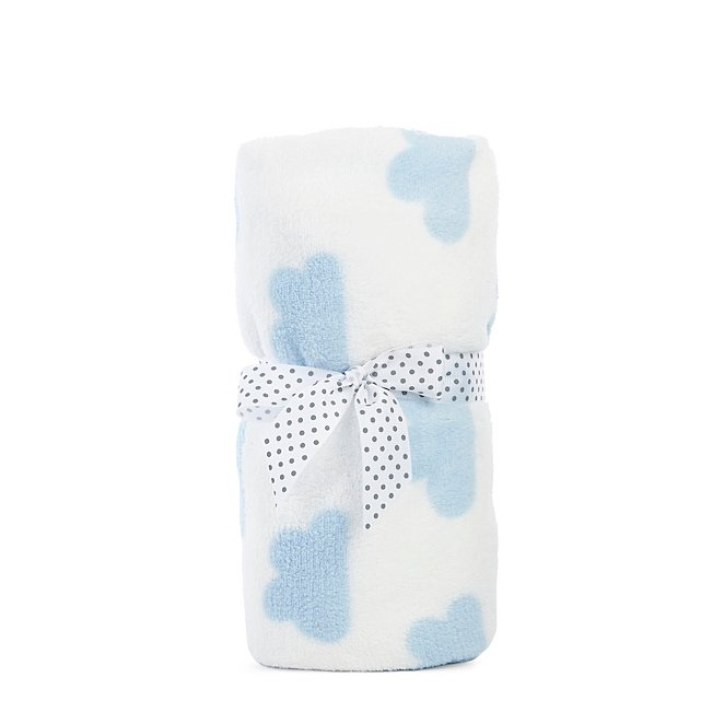 White Cloud Fleece Baby Blanket