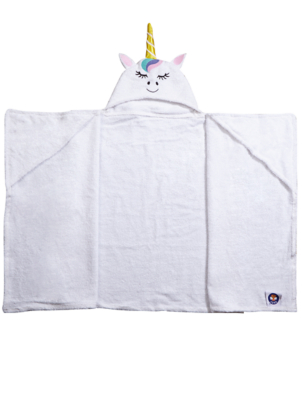 White Unicorn Hooded Towel