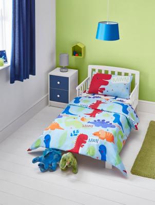 Dinosaur Print Easy Care Duvet Set Toddler Home George At Asda