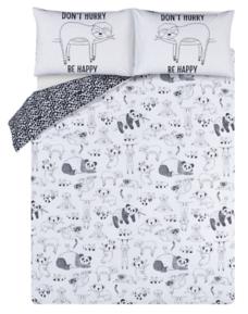 Sleepy Sloth Animal Print Easy Care Duvet Set