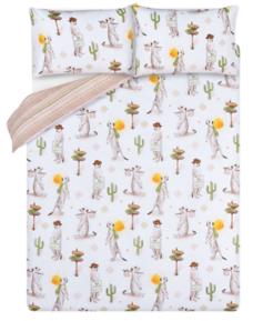 Meerkat Print Easy Care Reversible Duvet Set