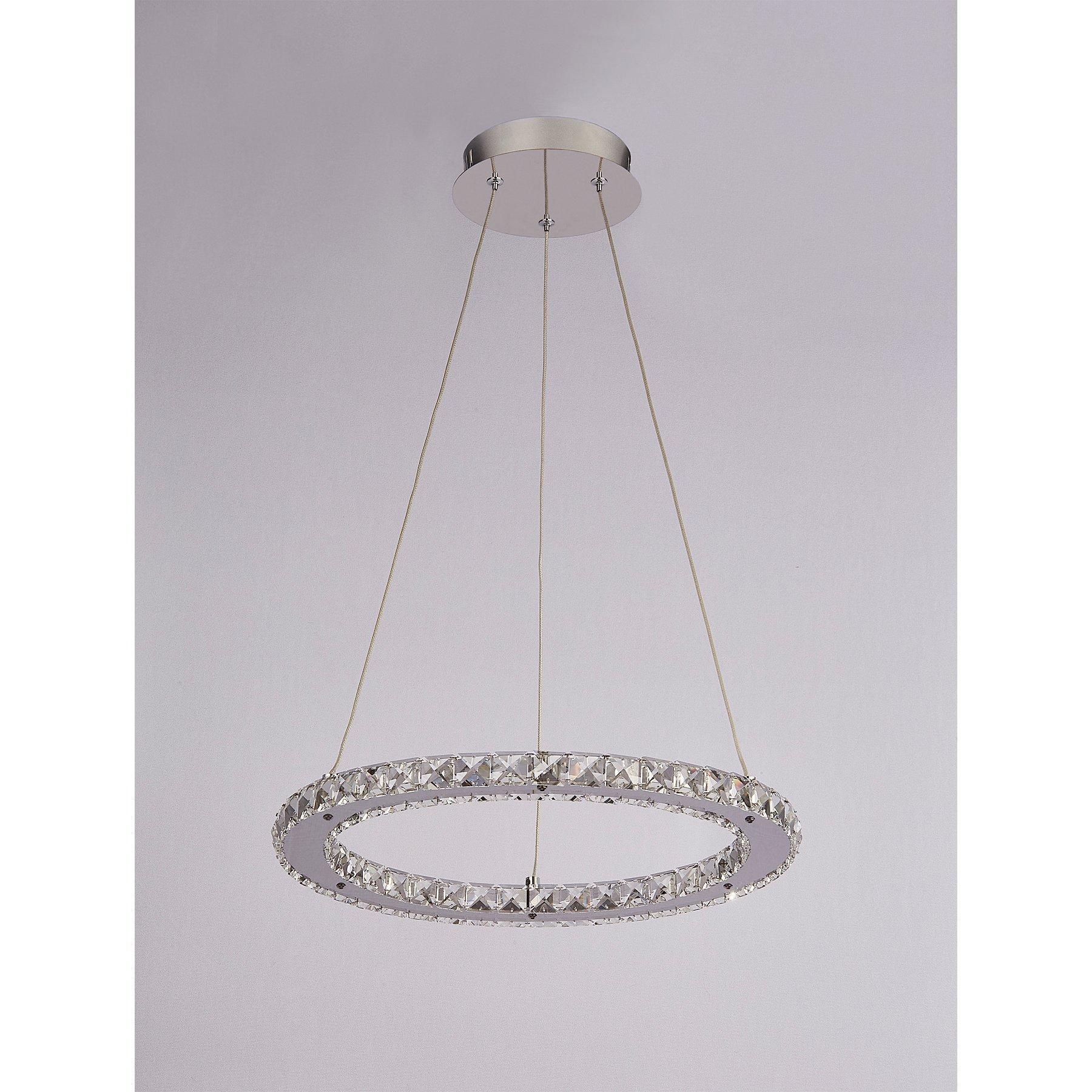 Chrome Ring Ceiling Light Home George At Asda