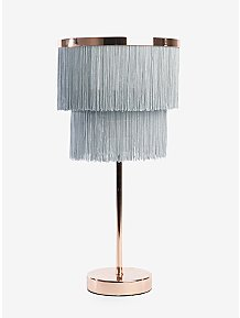 cdc5f082449f Grey Fringe Two Tier Table Lamp